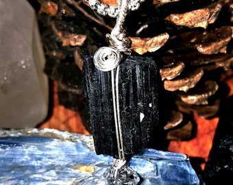 SageAine: Black Tourmaline Crystal Amulets, Reiki Charged, Crystal Healing, Dispel and Transmute Negativity
