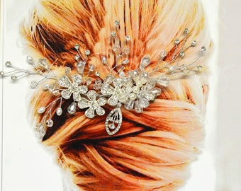 Cannes Bridal Hair Comb, Wedding Hair Accessories, Wedding Hair Comb, Pearl and Crystal Hair Comb, Hair Pin, Wedding Headpiece, Bridal Hair