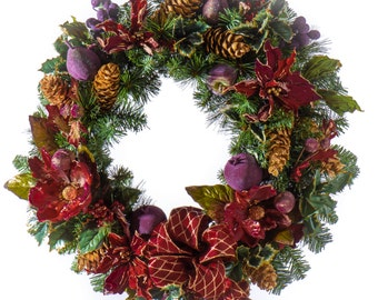 Holiday Fruit Christmas Wreath (CW902)