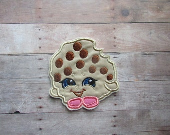 Kooky Cookie Shopkins Patch ~ Cookie Embroidered Iron On ~ No Sew