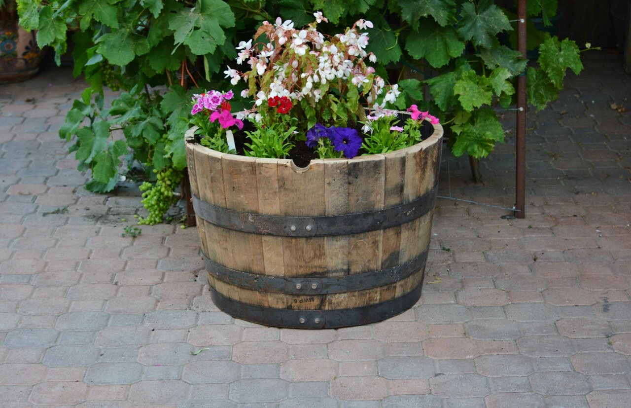 1 2 Planter Whiskey Barrel