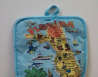 Vintage Florida Potholder Souvenir