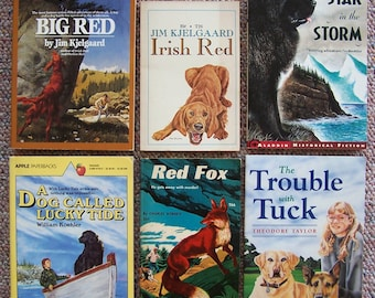 Dogs, Animals and Adventure - Lot of 12 Books - Trouble with Tuck, Star in the Storm, Sounder, Shiloh - Jim Kjelgaard, Big Red, Irish Red