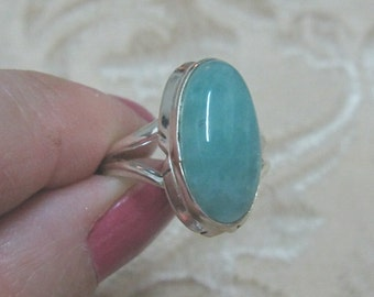 Amazonite Sterling Silver Ring Sizes 8 & 8 1/2