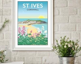 St Ives, Cornwall Giclee Print