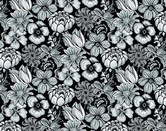 Marseille 7379 95 Grey by Blank Quilting
