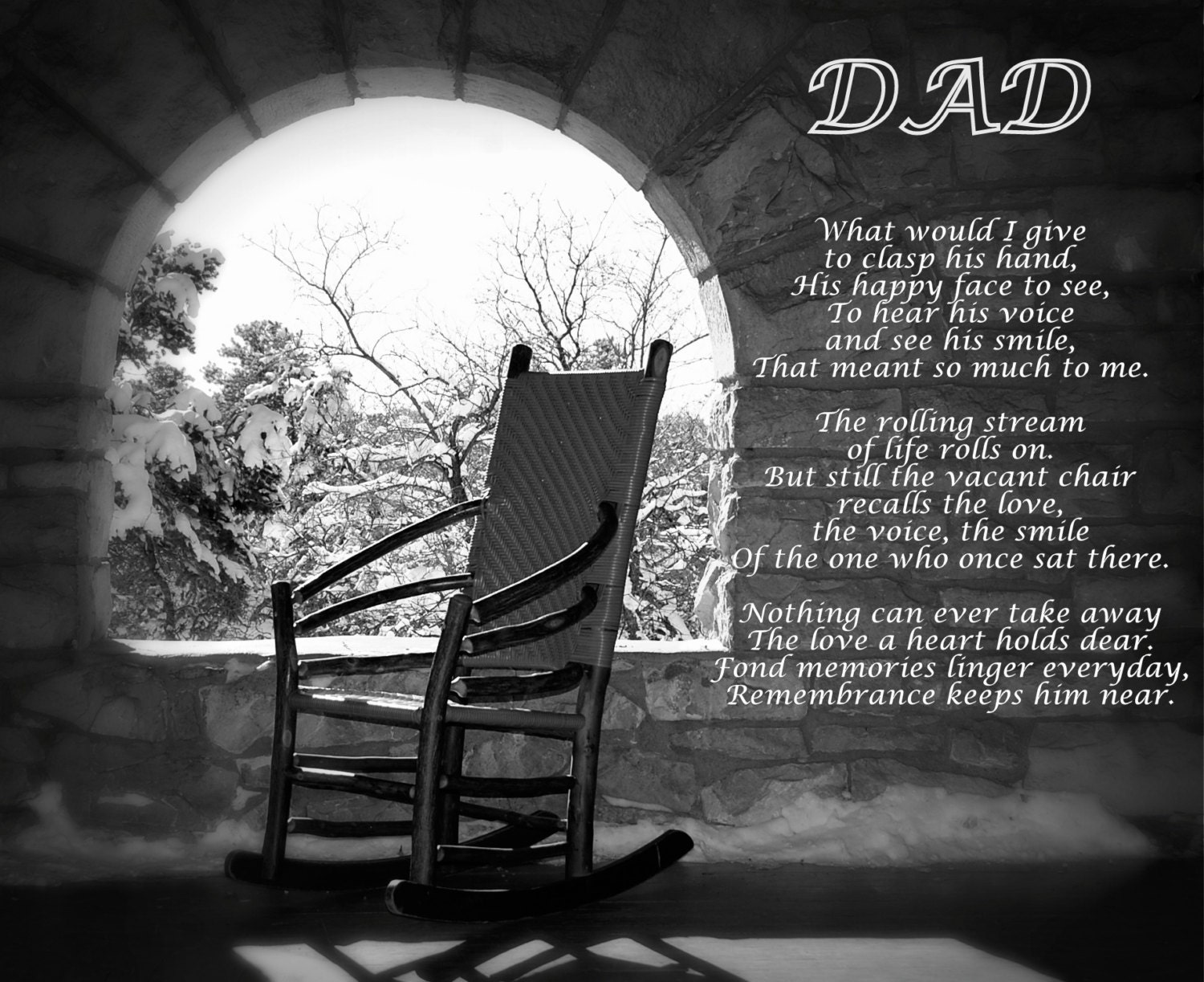 Black and white chair photography - Missing Dad Poem Dad S Empty Chair Remembering Dad Poem For Dad Empty Chair Poem In Remembrance Love Dad Memories