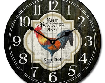Blue Rooster Inn Wall Clock