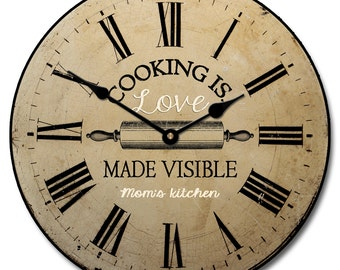Cooking is Love 2 Wall Clock