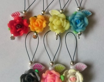 Colourful Rose Snagless Stitch Markers