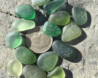 Genuine Sea Glass, Greens, Beach Glass, Gemstones
