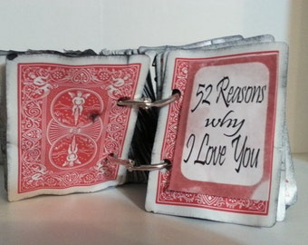 Completed 52 reasons Why I Love You - a creative gift for someone special - READY TO SHIP!