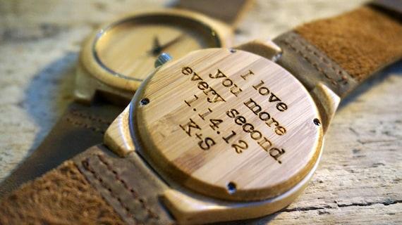 Wedding Gift For Husband Watch : ... Gift for Him/Her, Anniversary, Wedding gift, Groomsmen / bridesmaid