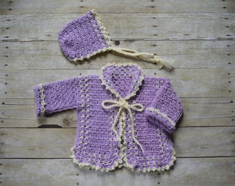 Baby Sweater - Baby Sweater set - Unique Baby gift  - Baby Cardigan - Baby Outfits - Baby Jacket -  Baby Shower gift  - Baby Girl Sweater