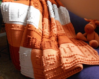 LAUGHTER finished crocheted blanket