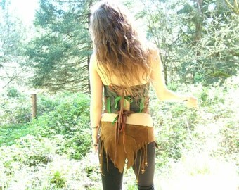 Handmade Leather Lioncloth Fantasy Elven Renaissance Cosplay Burning Man Hippie Naturist Primitive Woodland Tribal Dance Conan Commicon
