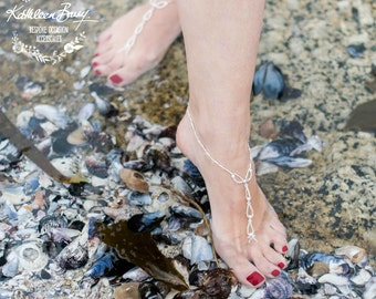 Barefoot Jewellery Sandals for Brides and bridal party - style 001
