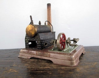 Toy Steam Boiler with Fly Wheel