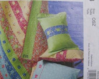 McCall's Crafts M6528 Pillowcase, Sham, and Quilt Pattern