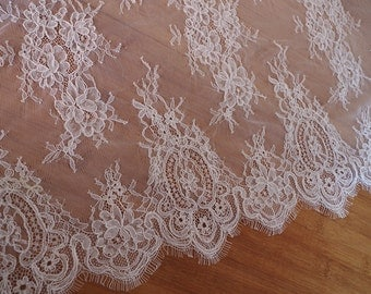 French alencon lace fabric, cord lace fabric for bridal lace fabric