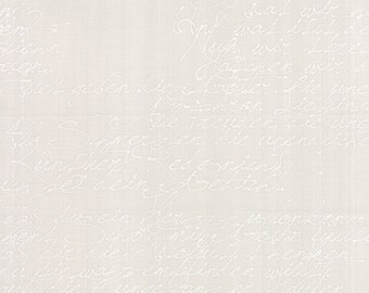 Modern Backgrounds by Zen Chic Basic Handwriting White Fog Moda SKU 1580 22