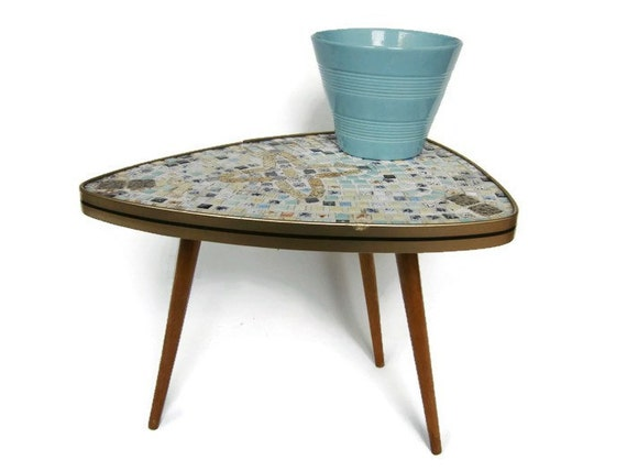 mid century modern plant stand small coffee table tripod. Black Bedroom Furniture Sets. Home Design Ideas