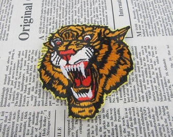 Tiger Iron on Patch Embroidery Animal Appliques