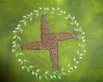 Embroiderd Brigid's Cross on Multi-Purpose Storage Bag