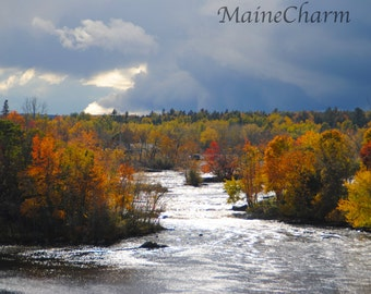 St. Croix River in Autumn, Maine Foliage, Maine Photography, Eastern Maine