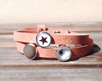 "Leather bracelet "" Star """