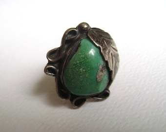 lovely turquoise feather ring, size 6