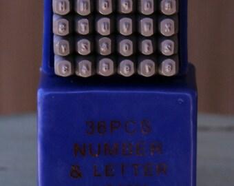 1.5mm Arial Font Alphabet Letter Number Uppercase Stamp Set - Metal Stamp Set - Metal Stamping and Jewelry Tool - SGCS-1.5MM