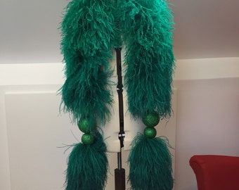 12 Ply Luxury Ostrich Boa - 150/180cm long with glitter globes