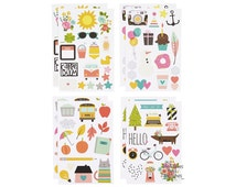 Carpe Diem Planner Stickers - Illustrated Life - 8 Sheets - Simple Stories - 506758