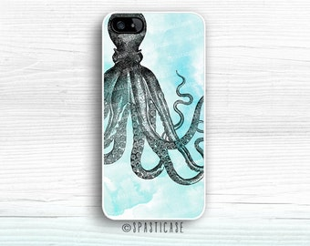 Octopus iPhone 6S Case, Beach iPhone 6 Case, iPhone 5 Case, iPhone 5S Case, iPhone 6 Nautical Case,Vintage iPhone 6 Plus, iPhone SE Case, 5C