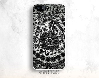 Lace iPhone 6S Case, iPhone 6 Case, iPhone 5S Case, Lace Pattern iPhone 5C, iPhone Case iPhone 6 Plus Case, Black Pattern iPhone 4S Case