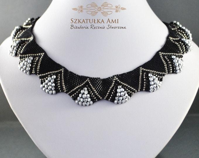 choker necklace, chocker collar, statement jewelry, choker beaded, choker silver, beaded necklace, victorian necklace, supreme court, 3D