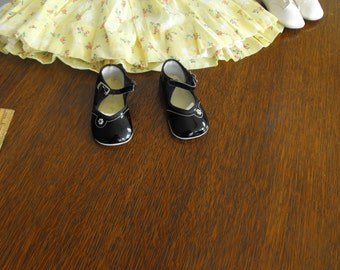 Black Patent Leather Baby Shoes