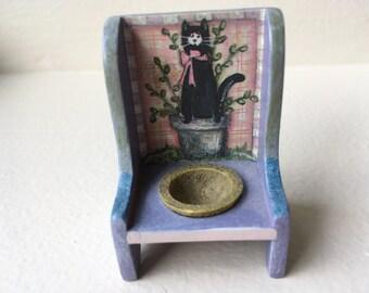 "Dollhouse Miniature Comcord Petalstone Garden Planter 1"" (JL)"