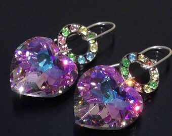 Hello…Swarovski Vitrail Earrings Spectacular