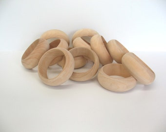 Raw Wood Bangles Dozen for Painting Decoupage Wrapping Craft Supplies Jewelry Wooden Bracelet 12  MicheleACaron