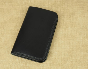 Fenner CRAFTS Handcrafted 'Urban Adventurer' Leather Notebook Cover - for: Moleskine Volant Extra Small 6.5x10.5cm - Black