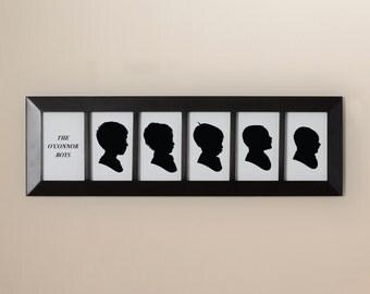 Custom Family Silhouettes - 5 Children