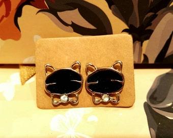 Cute!!! Black Kitty earrings