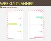 Printable Personal Filofax Personal Weekly Planner Inserts, Printable Filofax Inserts, Printable Weekly Planner, Personal Inserts