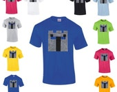 PopularMMOs T-shirt Plush applique Mine mining pixel Craft Character