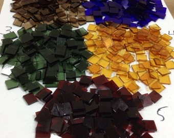 LAMBERTS Glass Tile for Mosaic or Craft Projects 100+