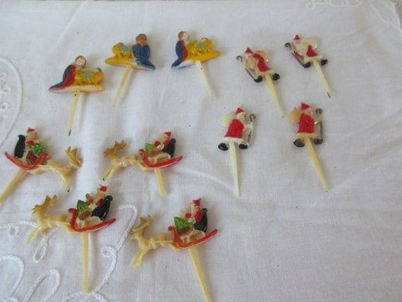 Christmas Cake Decorations Etsy: