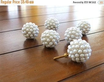 ON SALE TODAY Large Pearl and Silver Dresser Drawer Knob / Dresser Pull / Drawer Knob / Nursery Decor / Girl's Room / Cabinet Pull / Cabinet