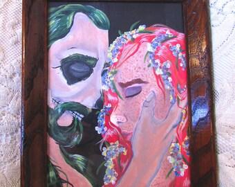 Hades Persephone Original Acrylic Painted Art